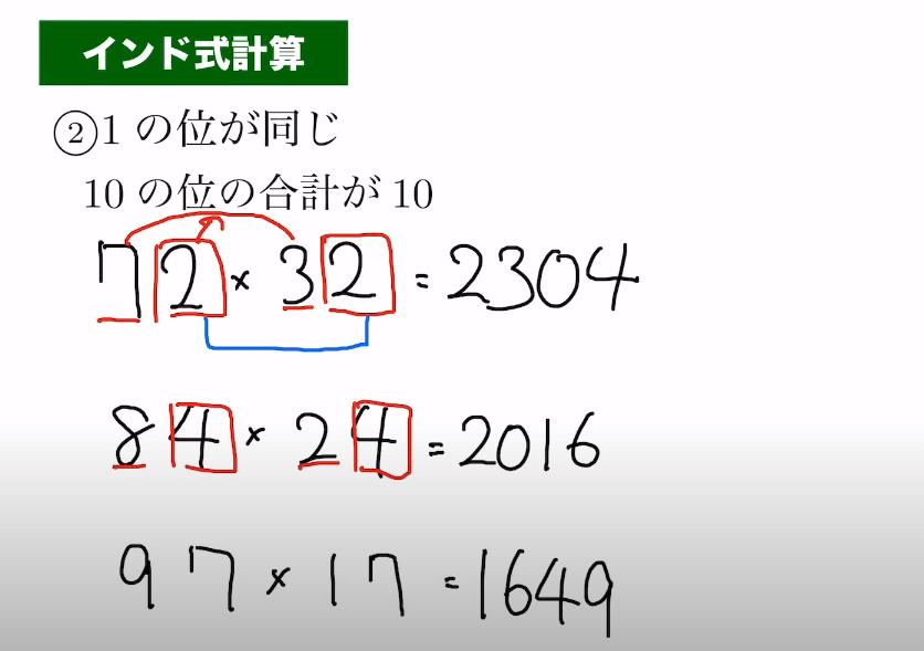 インド式計算の説明画像3