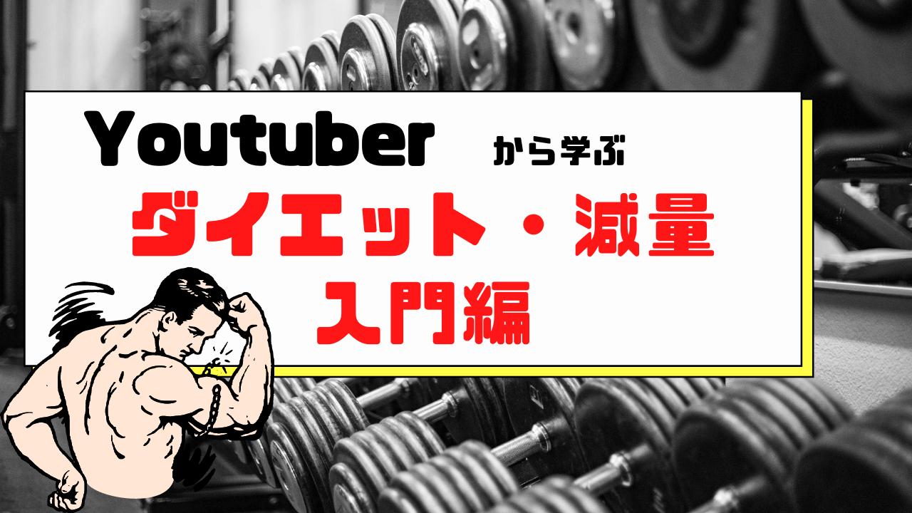 YouTubeからまなぶ初心者向けダイエット方法