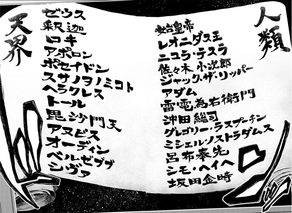 終末のワルキューレ/対戦カード